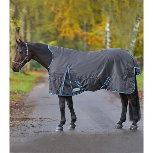 Nepromokavá deka s fleecem a prodloužením na krk ELT, antracitová