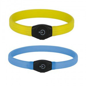 Obojek pro psa reflexní, svítící LED, 65 cm x 1,5 cm
