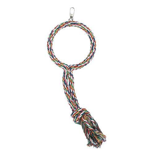 Závěsný kruh z lana pro ptáky, 45 cm