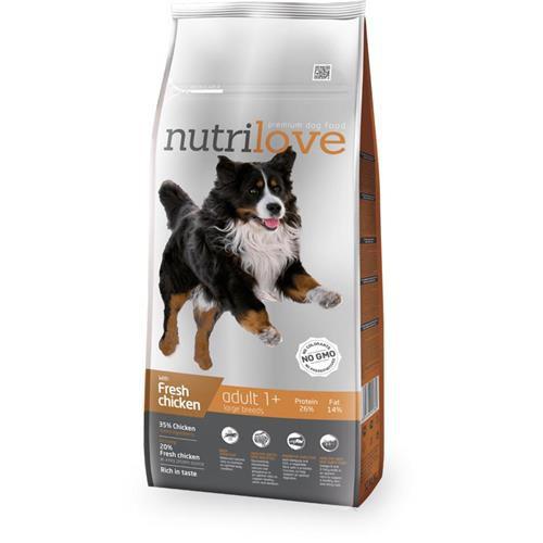 Granule Nutrilove pes, Adult L, 12 kg