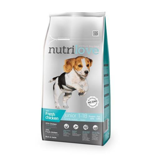 Granule Nutrilove pes, Junior S+M, 1,6 kg
