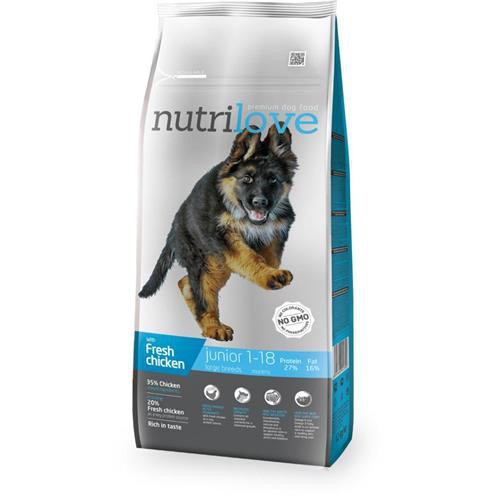 Granule Nutrilove pes, Junior L, 3 kg