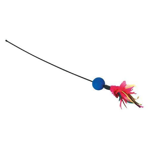 Hračka pro kočky tyčka s peříčky, 51 cm
