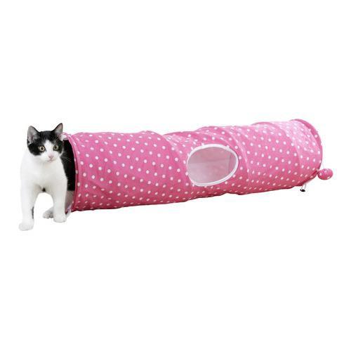 Prolézadlo pro kočky, růžová, pr. 25 cm, 100 cm