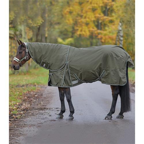 Nepromokavá deka ELT,s fleecem, olivová