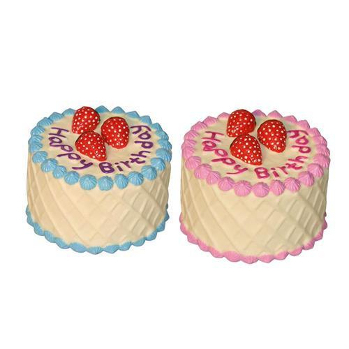 Hračka pro psy pískací dort, 10 cm