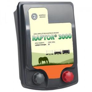 Zdroj pro elektrický ohradník síťový Raptor 3000, síťový, 2,0 J