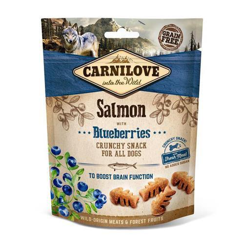 Pamlsek pro psy Carnilove losos a borůvky 200 g