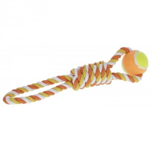 Bavlněné přetahovadlo, míček na laně, 37 cm