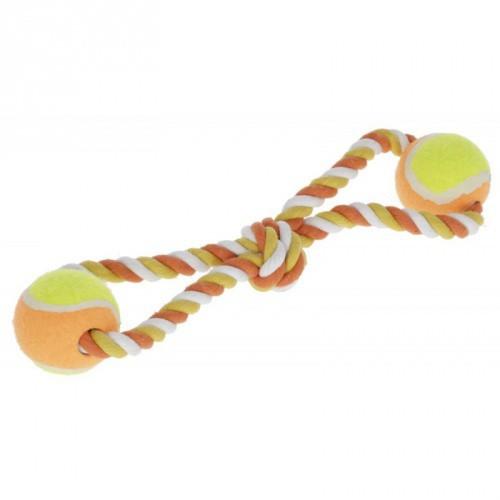 Bavlněné přetahovadlo, míčky na laně, 34 cm