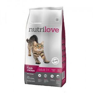 Nutrilove Cat Adult, kuřecí - 1,5 kg