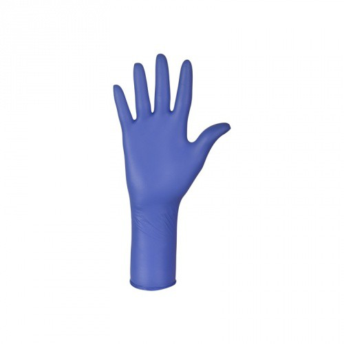 Vyšetřovací rukavice nepudrované nitrilové NITRYLEX CHEMO LONG, 100 ks, vel. M