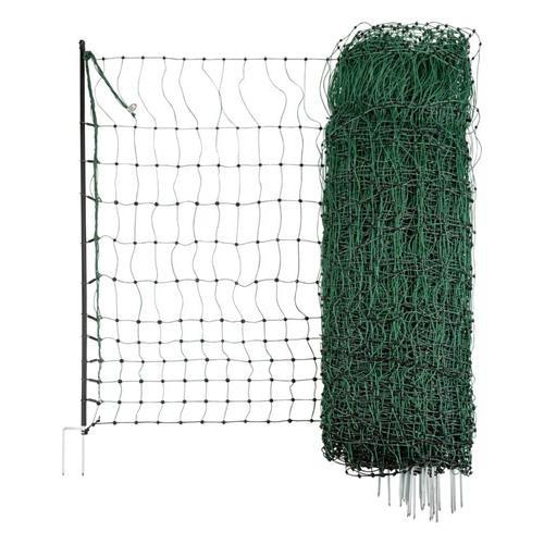 Síť pro drůbež PoultryNet, zelená, vodivá, výška 106 cm, délka 50 m, dvojitá špička
