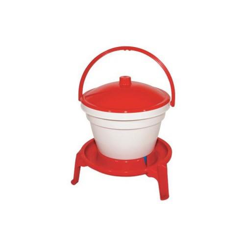 Napájecí kbelík pro drůbež s nožičkami 12 l